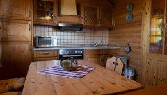 Der geräumige Koch- und Essbereich