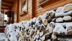 Winterliche Terrasse